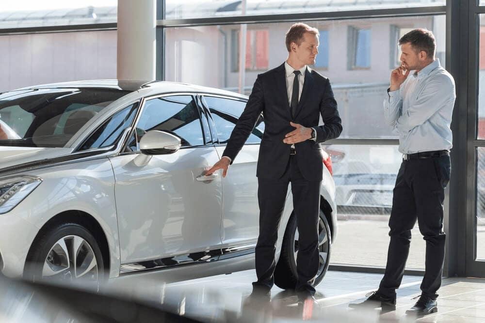 car shopping dealership showroom