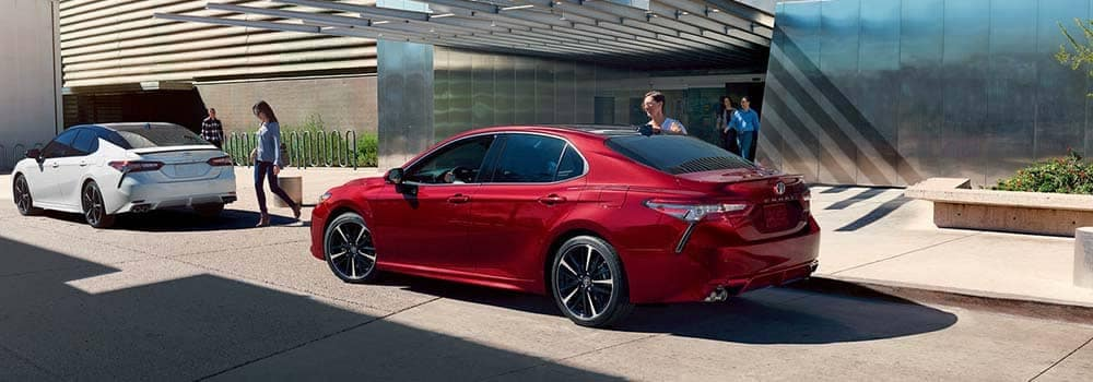2018 Toyota Camry Models parked outside office building