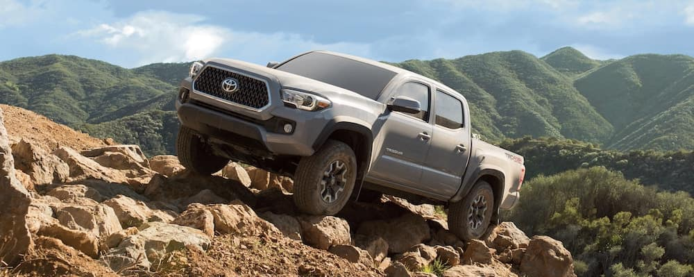 2019 Toyota Tacoma on rocky slope