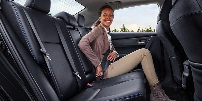 2019 Toyota Corolla Interior Backseat