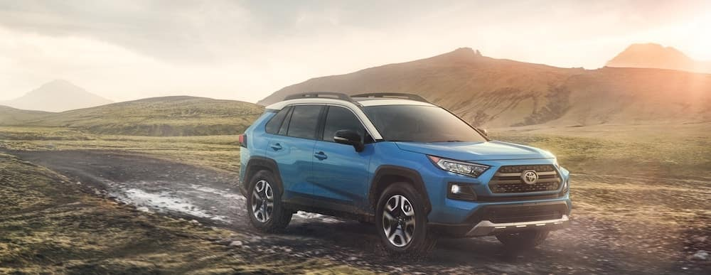 2019 Toyota RAV4 Adventure on muddy trail
