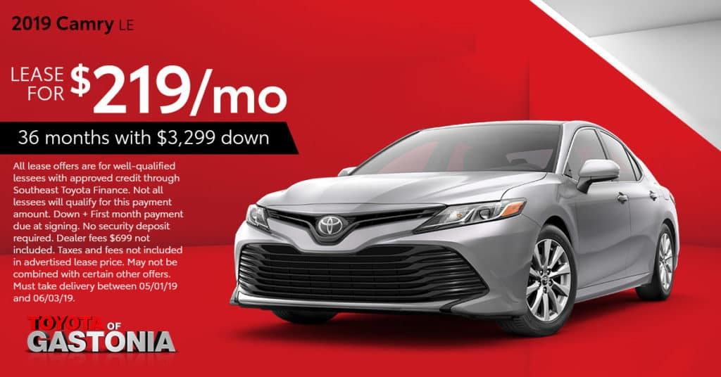 2019 Camry Lease Special Gastonia, NC