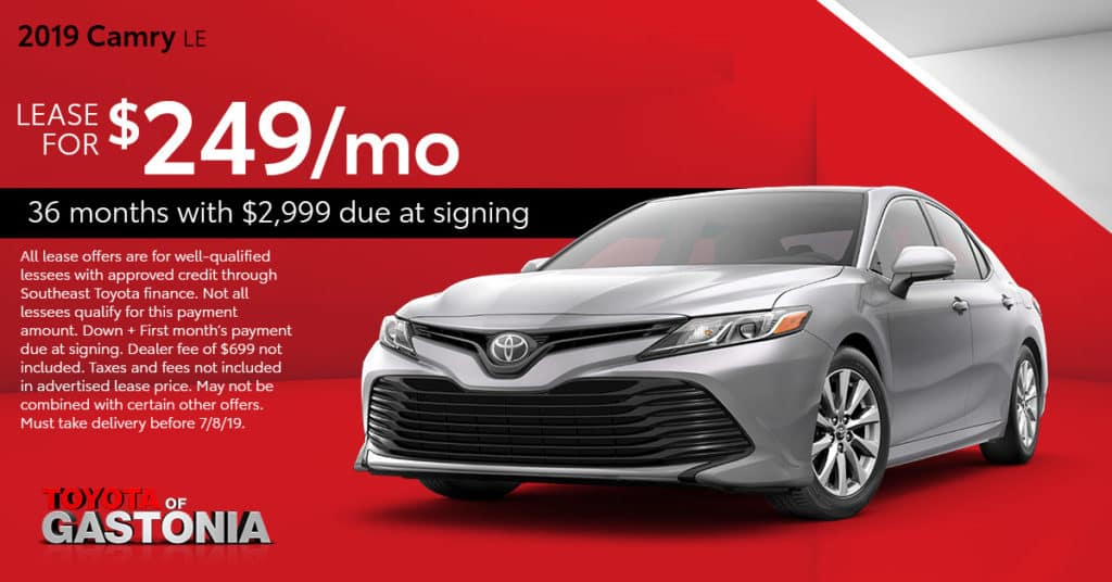 Toyota Finance Deals >> Current Toyota Lease Deals And Offers In Gastonia Toyota Of Gastonia