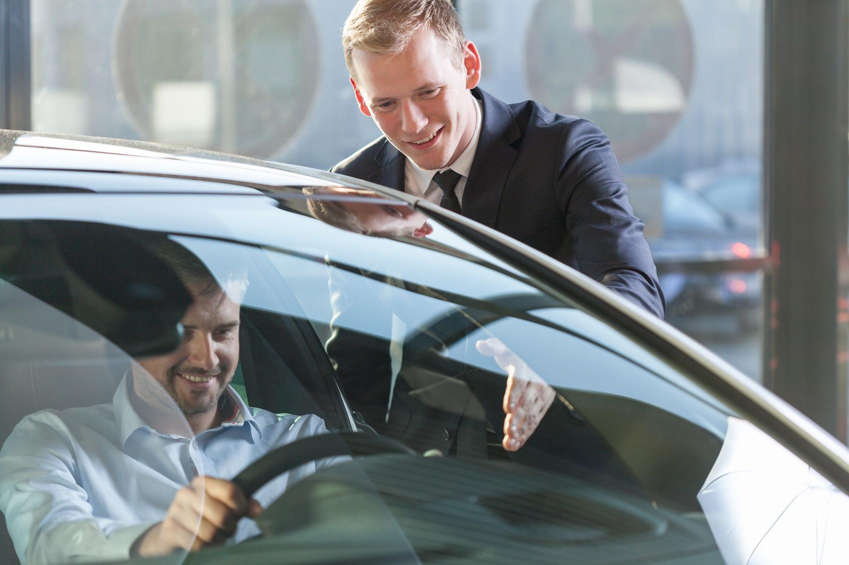 Taking a Drive at Dealership