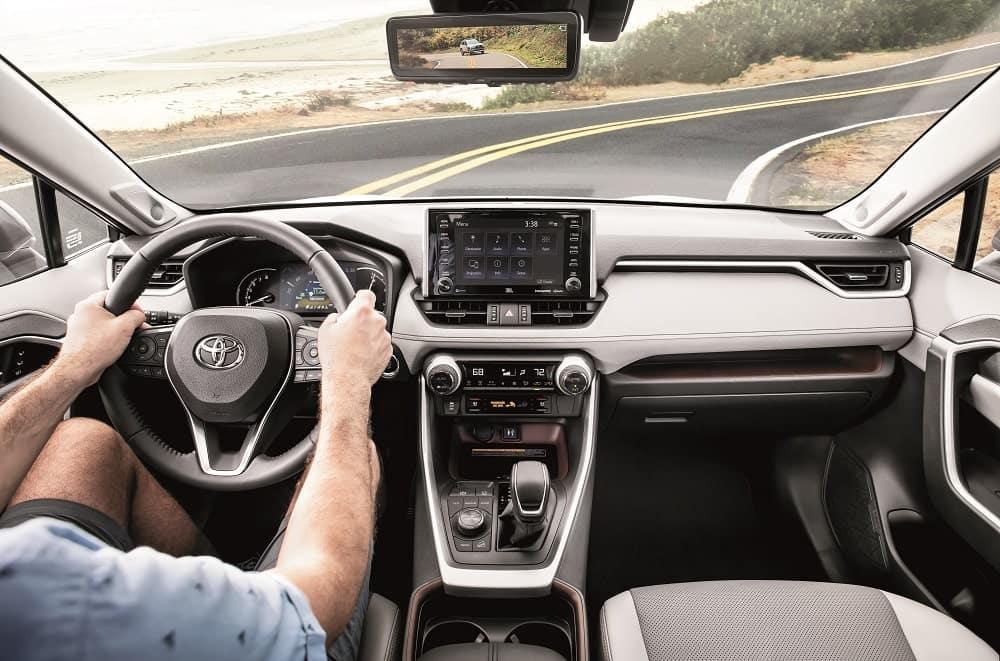 Driving a Toyota RAV4