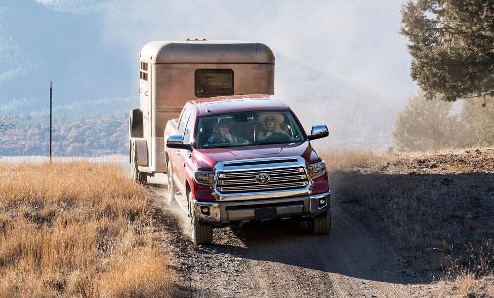 Toyota Tundra Towing Trailer Off-Road