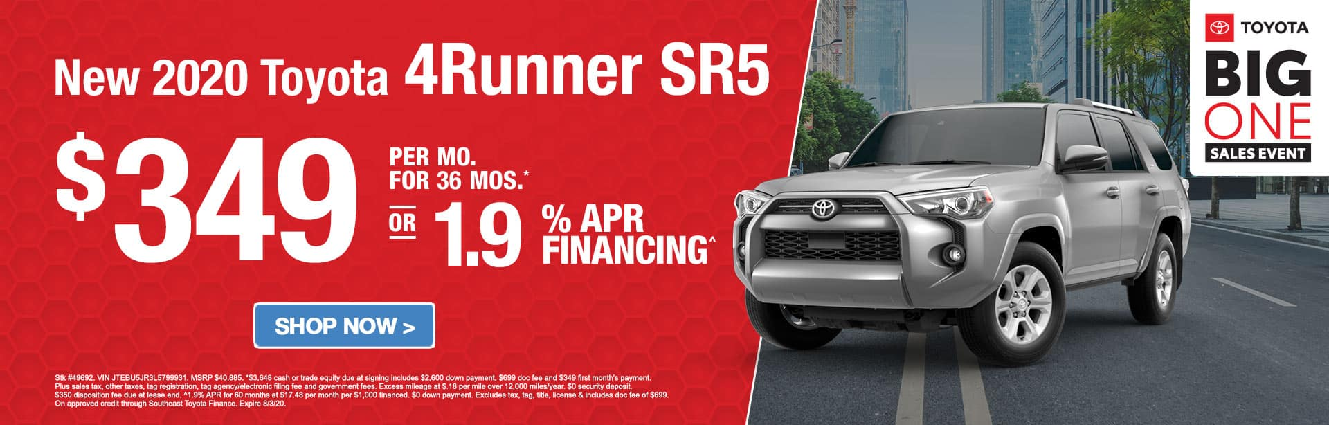 Big One Sales Event 4Runner 0% APR