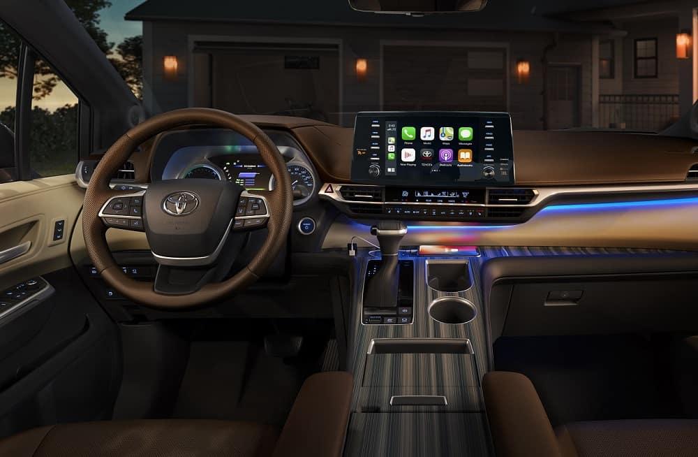2021 Toyota Sienna Interior with Apple CarPlay® Technology