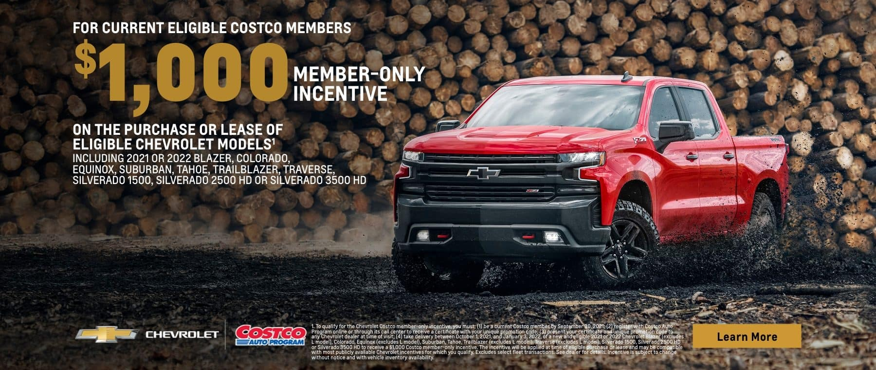 $1000 member-only incentive
