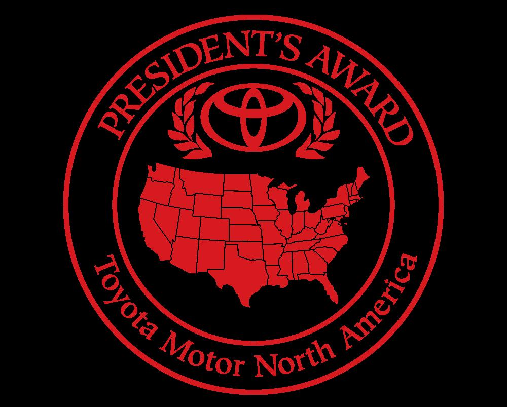 Toyota President's award winner logo