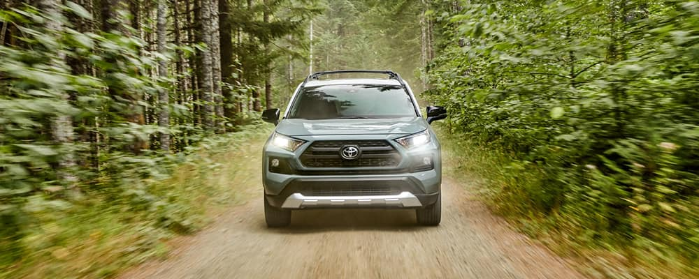 2020 RAV4 driving in woods