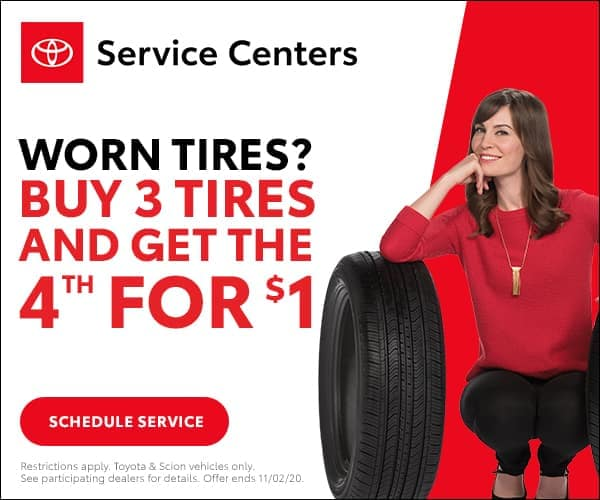 Buy 3 Tires get the 4th for $1