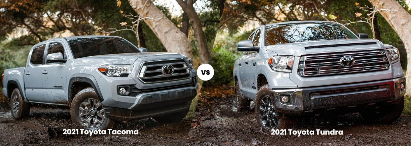 2021 Toyota Tundra vs 2021 Toyota Tacoma comparison