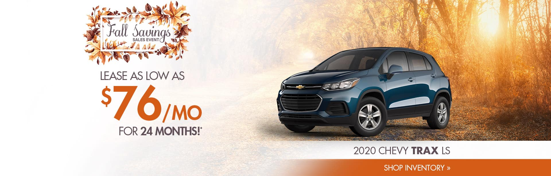 Lease a New Chevrolet Trax near Clinton, Indiana
