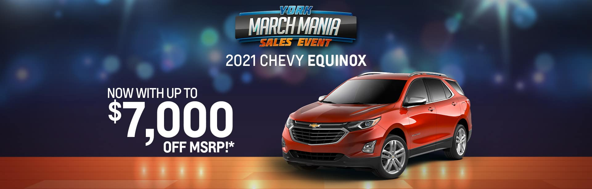 Best rebate offer on a new 2021 Chevy Equinox near Indianapolis IN
